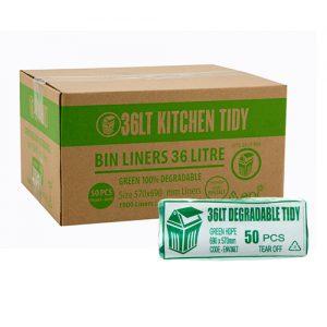 36L Green EPI Degradable Kitchen Tidy Liner