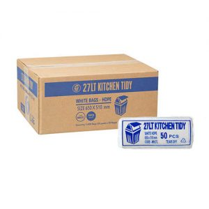 27L Kitchen Tidy Liner HDPE - White