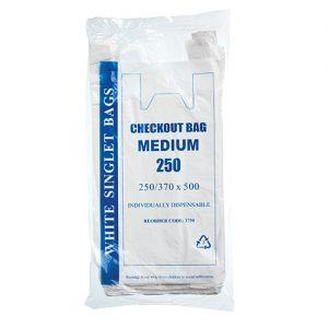 Medium White Singlet Bags