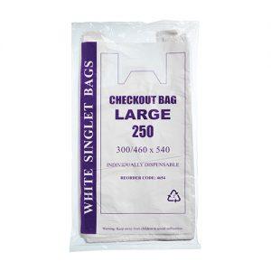 Large White Singlet Bags