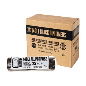 140L Black Garbage Bags AP - Roll