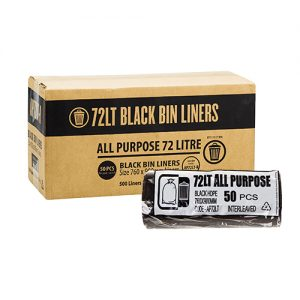 72L Black Garbage Bags AP - Roll