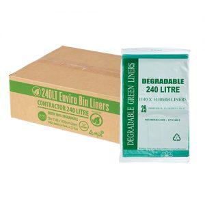 240L EPI Degradable Garbage Bags Green