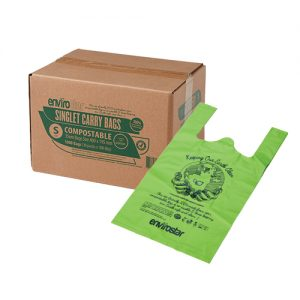 Compostable Singlet Bags 37um Small