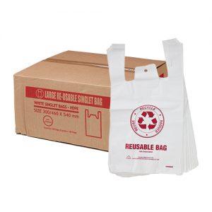 Large Reusable Singlet Bags 35um