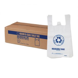 Medium Reusable Singlet Bags 35um