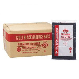 120L Premium Black Garbage Bags