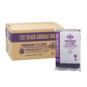 72L Premium Black Bin Liners