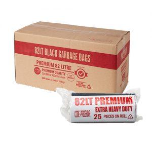 82L Premium EHD Bin Liner 40um - Black
