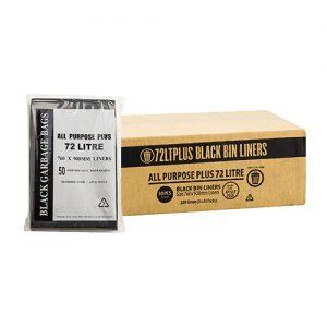 72L Black All Purpose Garbage Bags