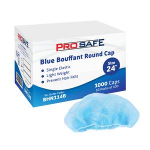 "ProSafe Blue Bouffant Round Cap 24"" - BHN114B"