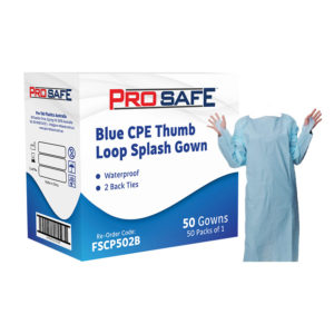 ProSafe CPE Thumb Loop Splash Gown - FSCP502B