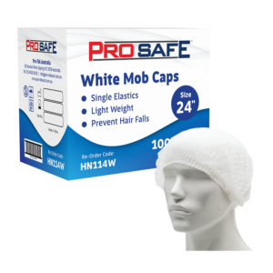 "ProSafe White Mob Cap 24"""