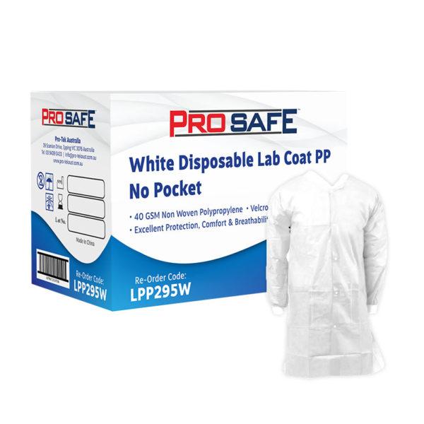 ProSafe White Disposable Lab Coat - LPP295W